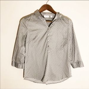 NYC Polka Dotted 3/4 Sleeve Blouse